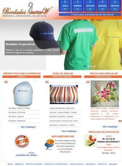 Venta de ropa corporativa y para el hogar con delicados bordados.
