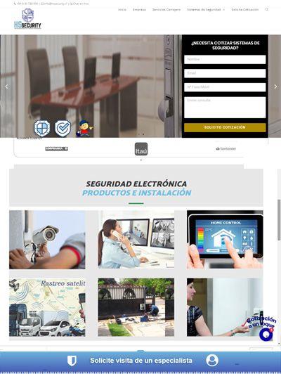 Página Web que ofrece sistemas de seguridad a empresas y particulares sistemas de seguridad
